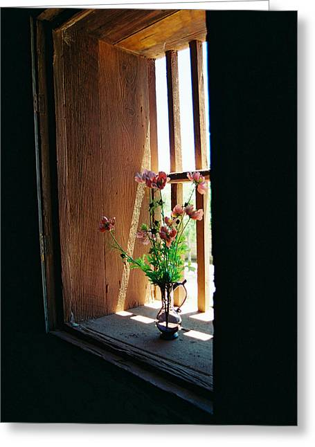 Flower In Window Greeting Card