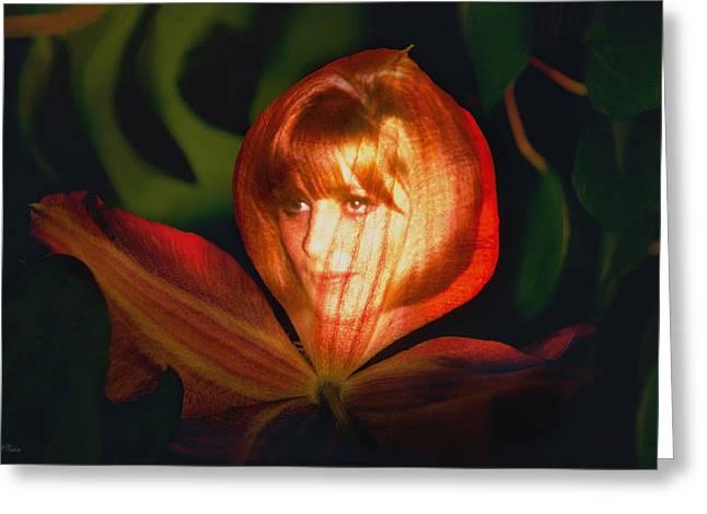 Flower Maiden Card Greeting Card