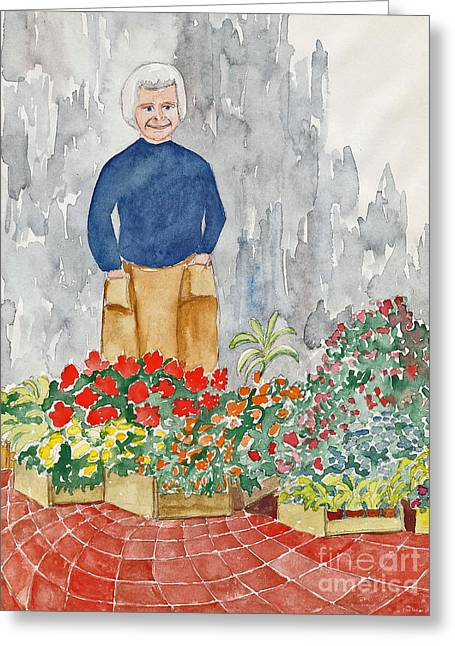 Flower Market France Greeting Card by Fred Jinkins