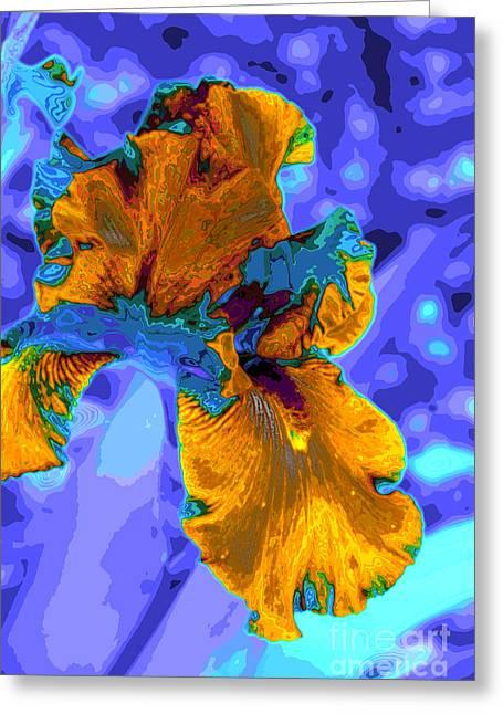 Flower Moderna Greeting Card by Rick Bragan