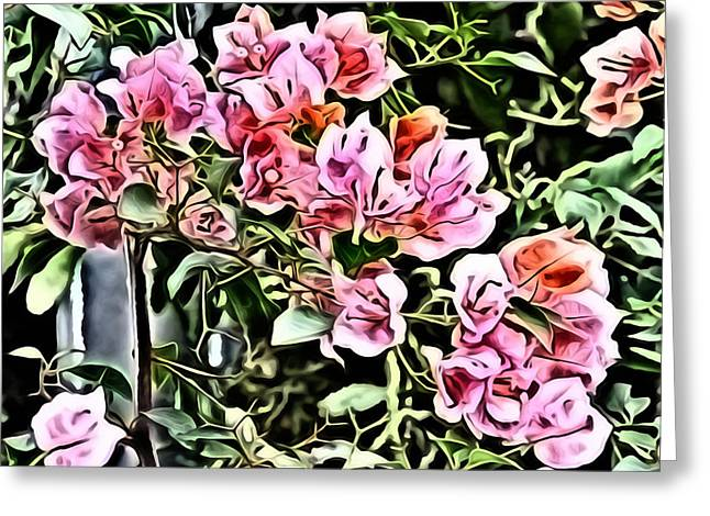 Flower Painting 0003 Greeting Card by Metro DC Photography