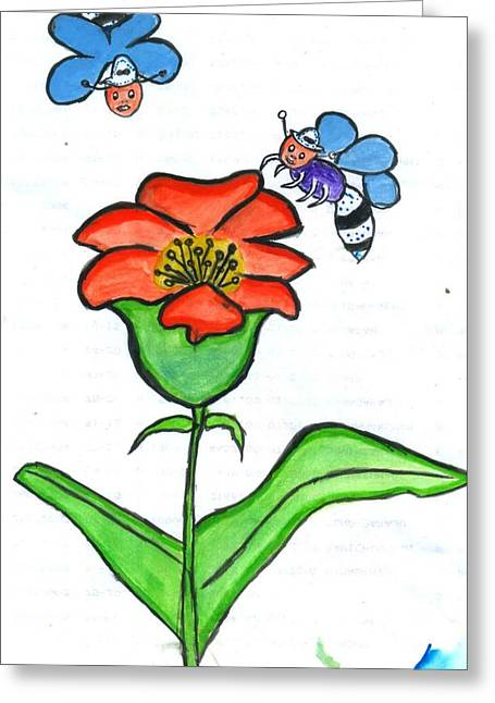 Flower Greeting Card by Poornima M