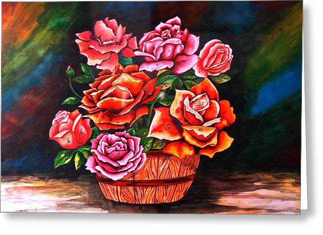 Flower Pot Greeting Card by Johnson Moya