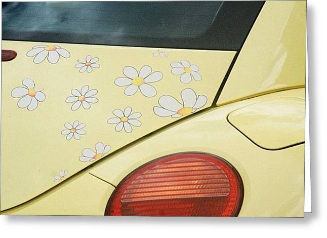 Flower Power #car #coccinelle #beetle Greeting Card