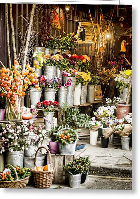 Flower Shop Greeting Card by Heather Applegate
