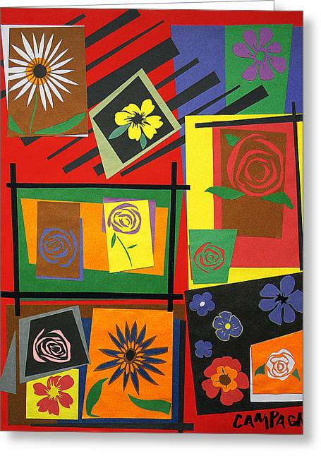 Bass Tapestries - Textiles Greeting Cards - Flower Study 2 Greeting Card by Teddy Campagna