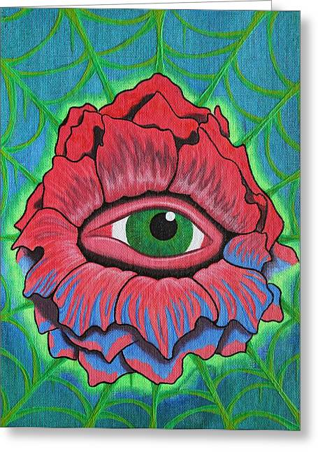 Flower Vision Greeting Card by Landon Clary