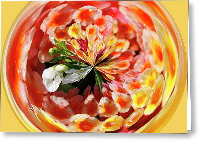 Flowering Orb Greeting Card