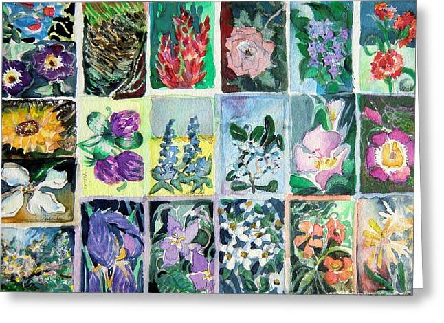 Flowers Flowers Flowers Greeting Card by Mindy Newman