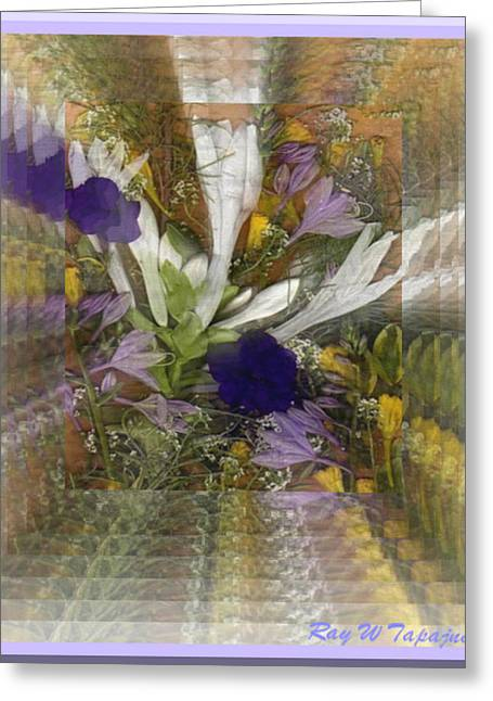 Greeting Card featuring the mixed media Flowers For You To Infinity by Ray Tapajna