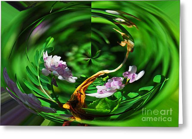 Greeting Card featuring the photograph Flowers Gone Wild by Cindy Manero
