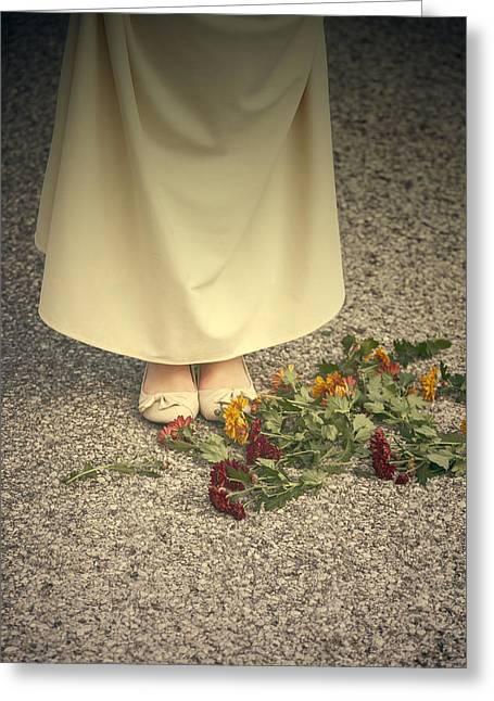 Flowers On The Street Greeting Card by Joana Kruse