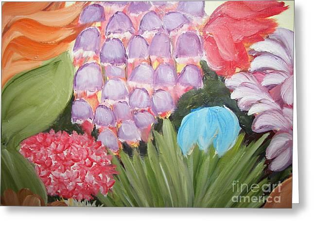 Flowers Greeting Card by Rachel Carmichael