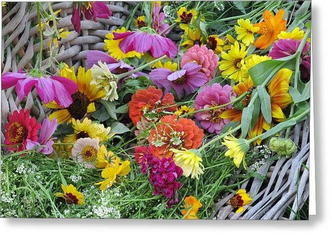 Greeting Card featuring the photograph Flowers by Tina M Wenger