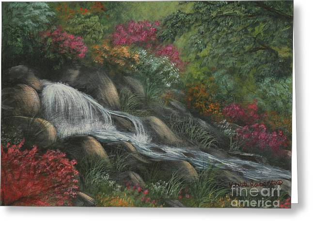 Greeting Card featuring the painting Flowing Waters by Kristi Roberts