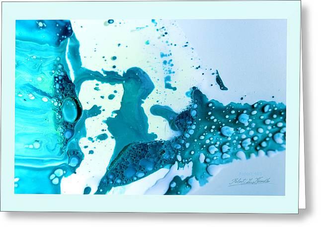 Fluidism Aspect 468 Frame Greeting Card by Robert Kernodle