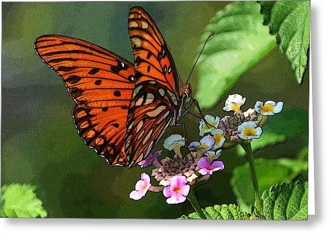 Flutter Cups Greeting Card by Amanda Vouglas