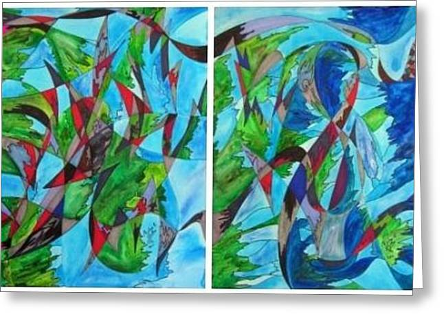 Fluttering Greeting Card by Christine Bonnie Ghattas