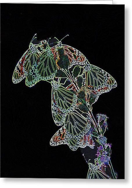 Flying Diamonds Greeting Card by Rick Rauzi