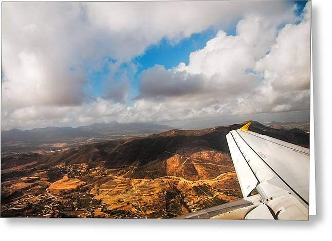 Flying Over Spanish Land IIi Greeting Card by Jenny Rainbow