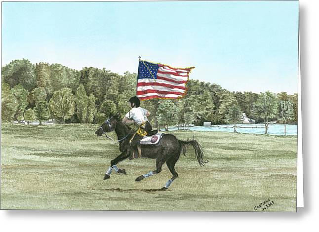 Flying The Colors At A Gallup Greeting Card