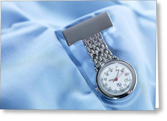 Fob Watch Greeting Card by Tek Image