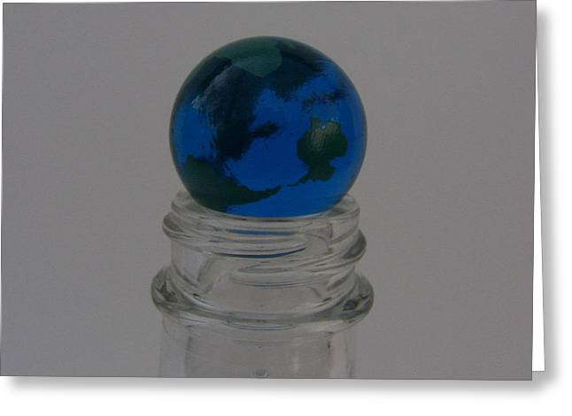 Focused On The World Greeting Card by K Walker