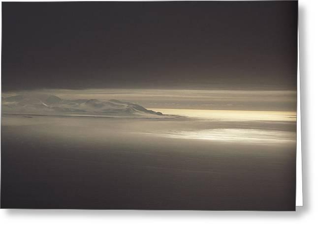 Fog And Sunlight Over Polar Greeting Card by Gordon Wiltsie