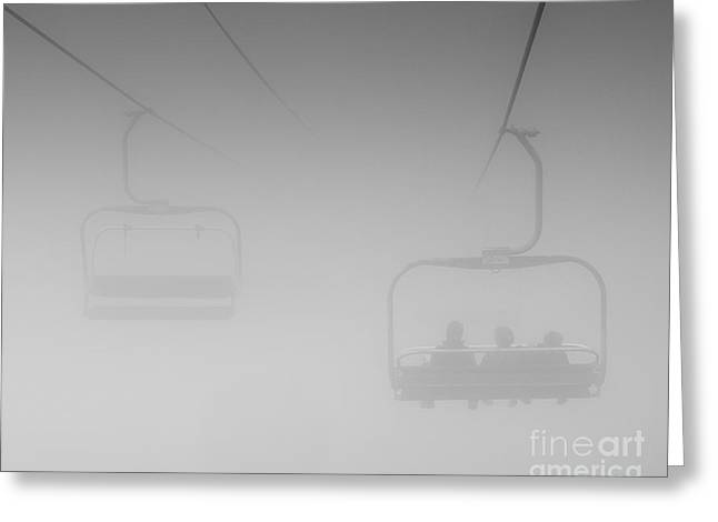 Greeting Card featuring the photograph Fog by Eunice Gibb
