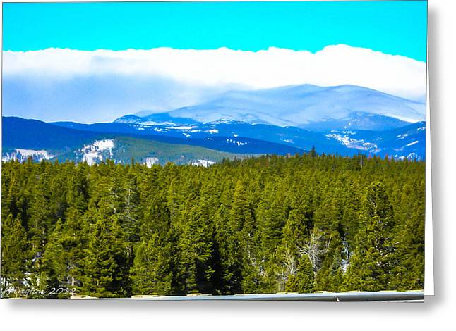 Greeting Card featuring the photograph Fog In The Rockies by Shannon Harrington