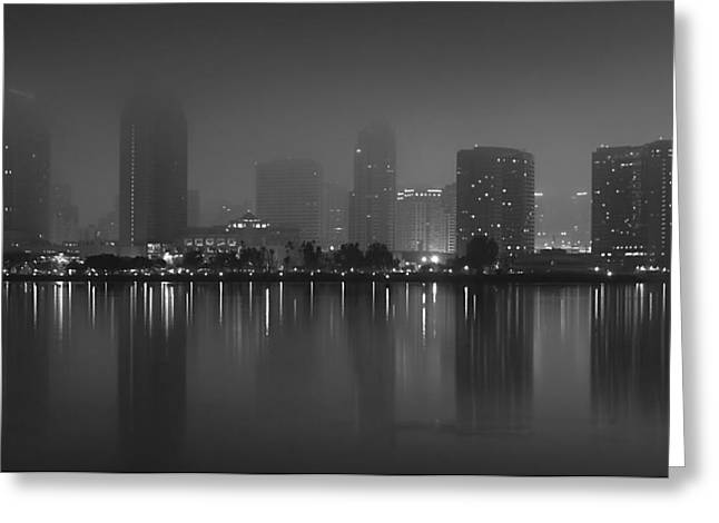 Fog On The Bay Greeting Card