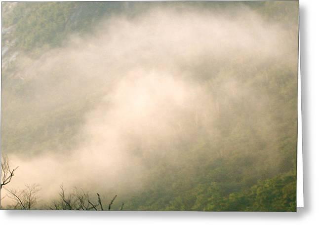 Fog Over Franconia Notch  Greeting Card by Gloria Warren