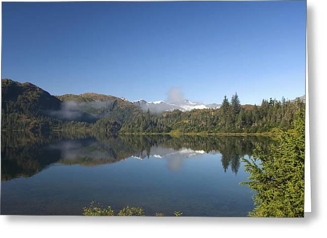 Fog Over Shrode Lake II Greeting Card by Gloria & Richard Maschmeyer