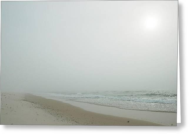 Foggy Beach Greeting Card by Michael Thomas