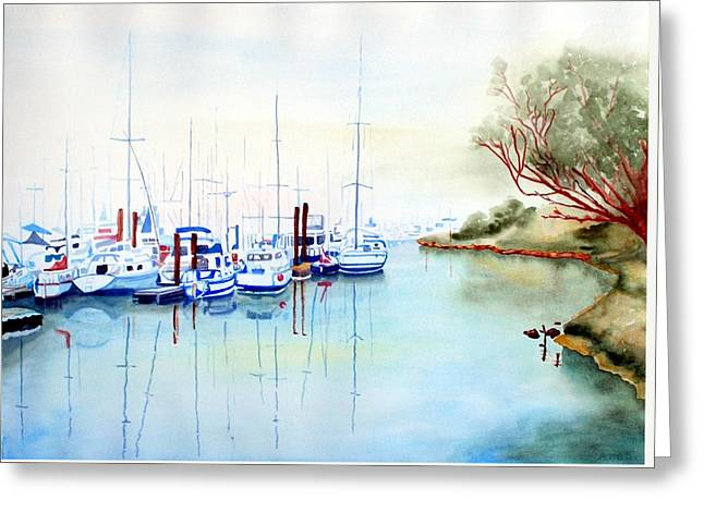 Foggy Day At Moss Landing Greeting Card