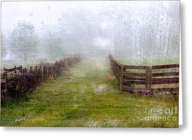 Foggy Fence Greeting Card