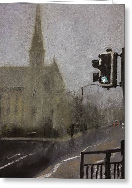 Foggy Herne Bay 1 Greeting Card by Paul Mitchell