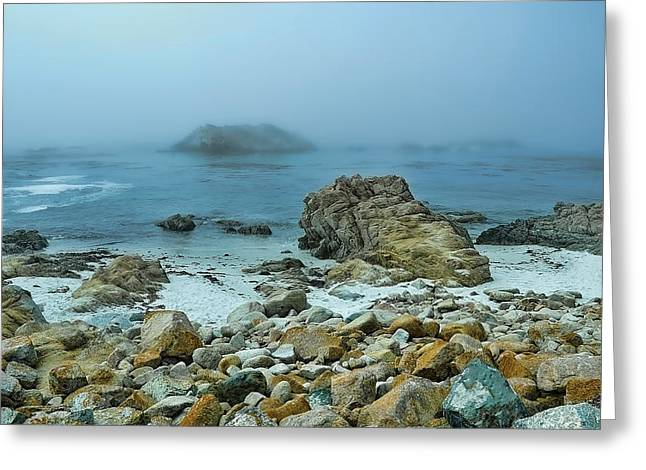 Foggy Morning On The Coast Greeting Card by Renee Hardison