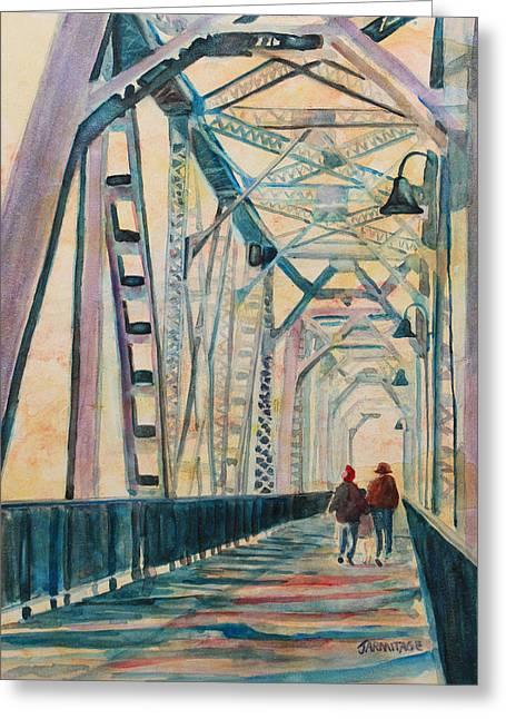 Foggy Morning On The Railway Bridge IIi Greeting Card