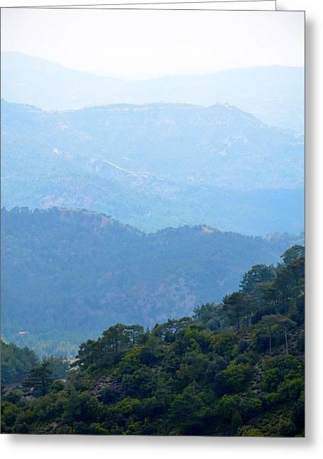 Foggy Mountain Layers Greeting Card