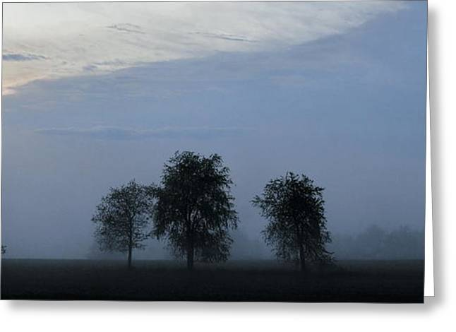Foggy Pennsylvania Treeline Greeting Card