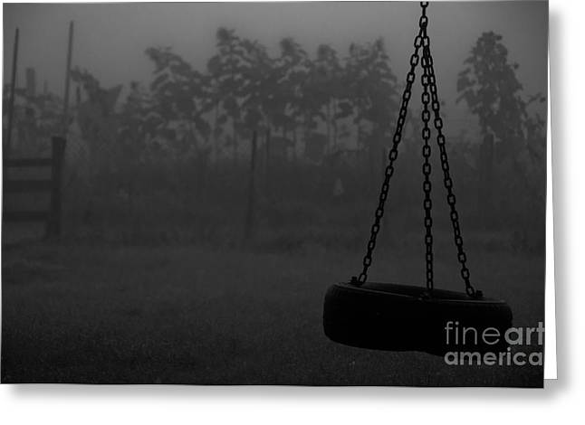 Greeting Card featuring the photograph Foggy Playground by Cheryl Baxter