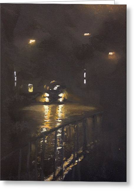 Foggy Street 4 Greeting Card by Paul Mitchell
