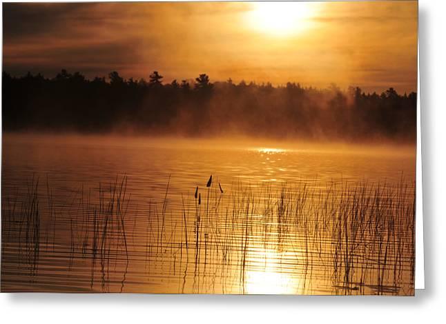 Foggy Sunrise Greeting Card