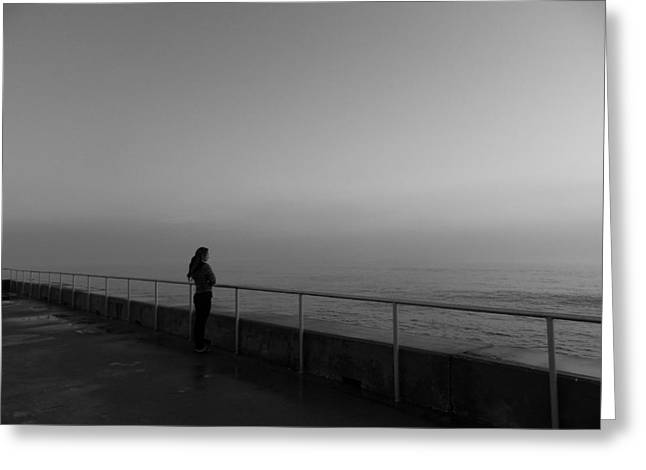 Foggy Thoughts Greeting Card by David Mcchesney