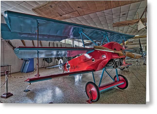 Fokker Dr 1 Greeting Card by Miguel Diaz