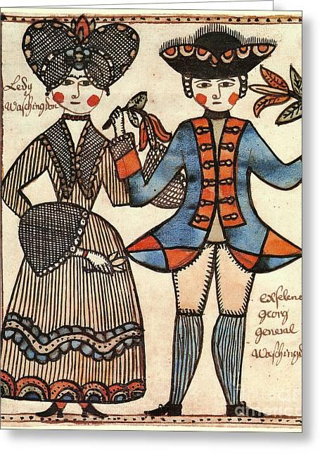 Folk Art: Washingtons Greeting Card by Granger