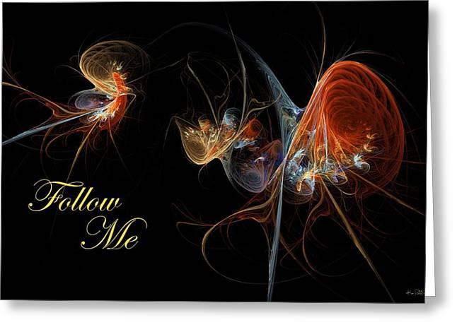 Greeting Card featuring the digital art Follow Me by Kim Redd