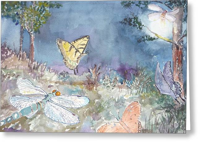 Follow The Firefly Greeting Card by Dorothy Herron