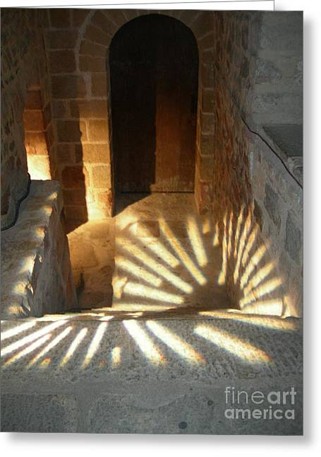 Follow The Light-stairs Greeting Card